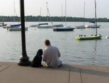 Allen & LEAF at the lake